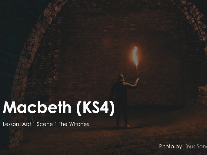Macbeth The Witches Act 1 Scene 1 Atmosphere