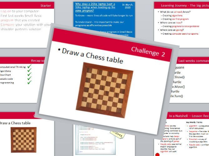 Small Basic - Lesson 3 - chessboard challenge