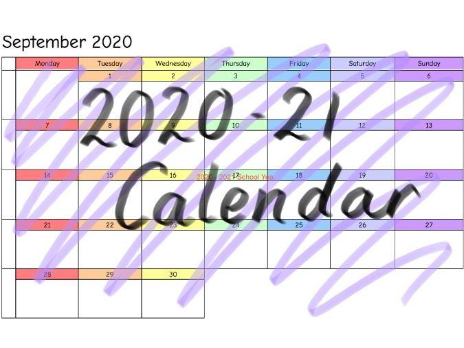 2020-21 Calendar - Blank