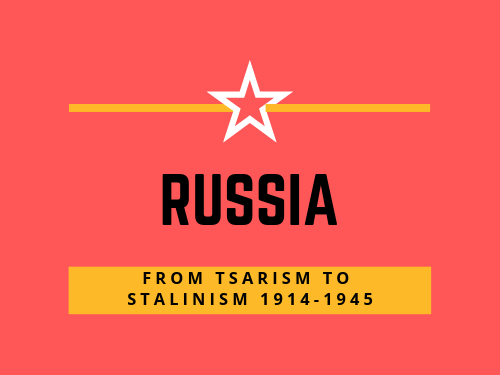 SQA Advanced Higher History Russia: from Tsarism to Stalinism.  1914-45 Revision booklet