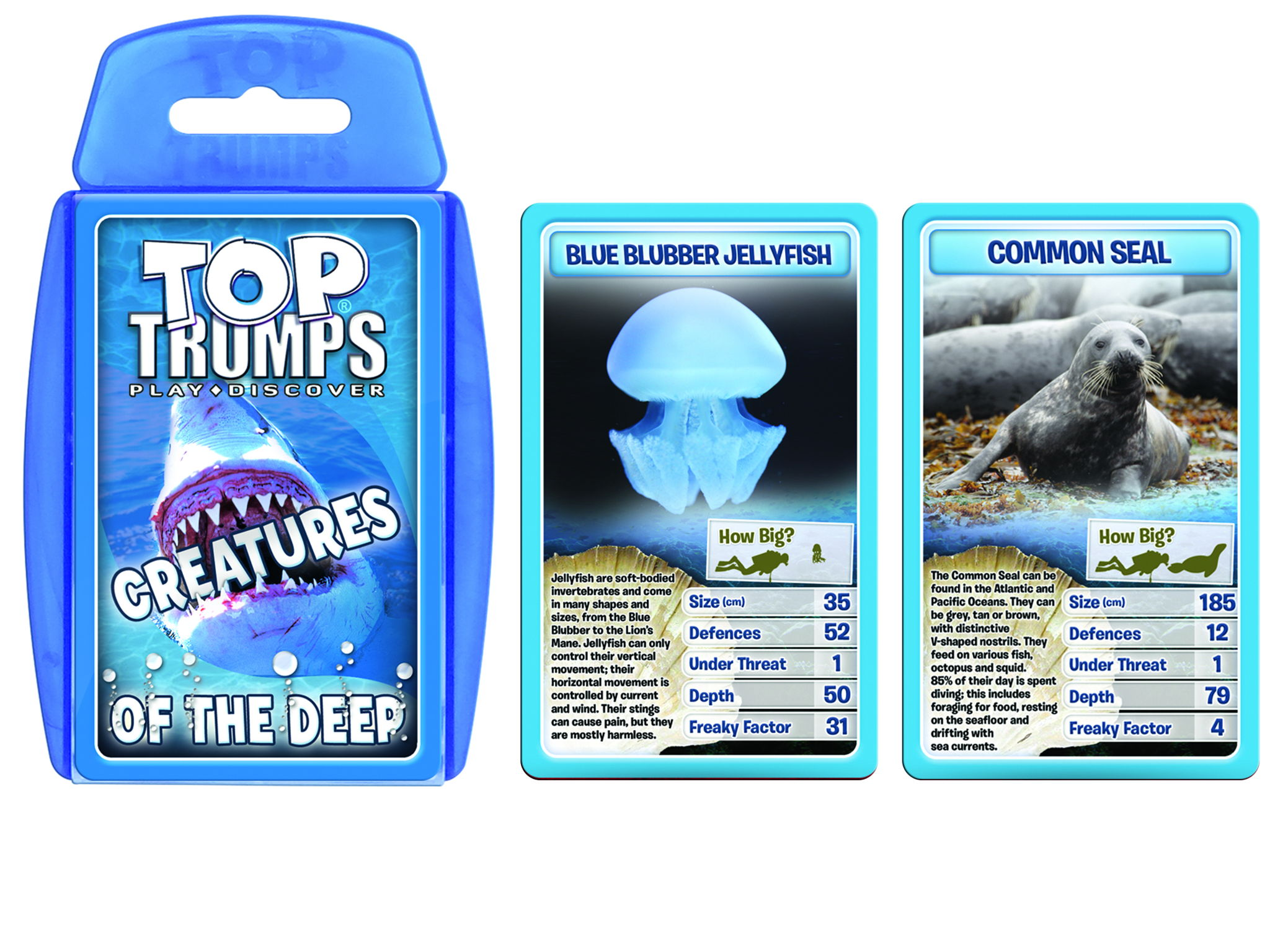 Official Creatures of the Deep Top Trumps