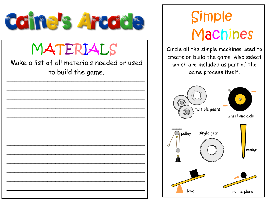 STEM: Caine's Arcade complete guide to your machine!