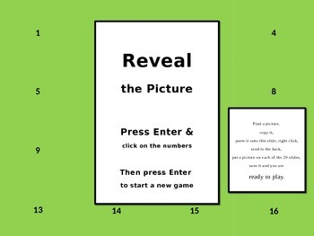 Reveal the Picture Powerpoint Template