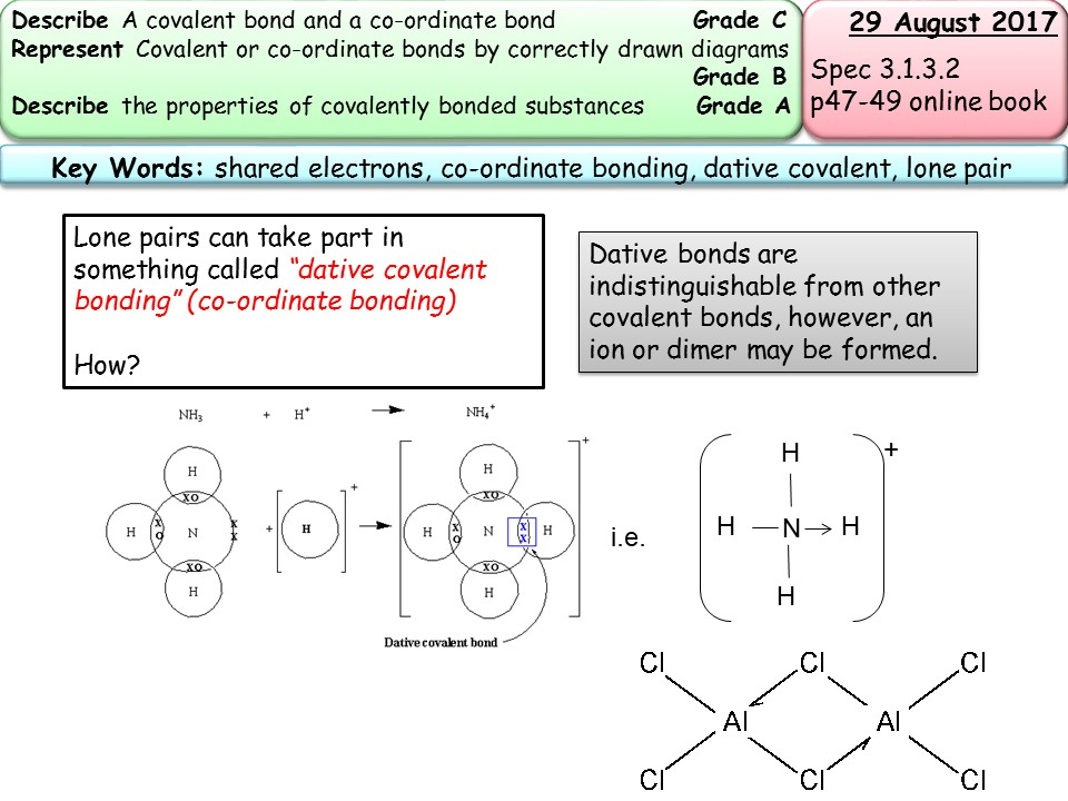 ionic and covalent bonding addesment
