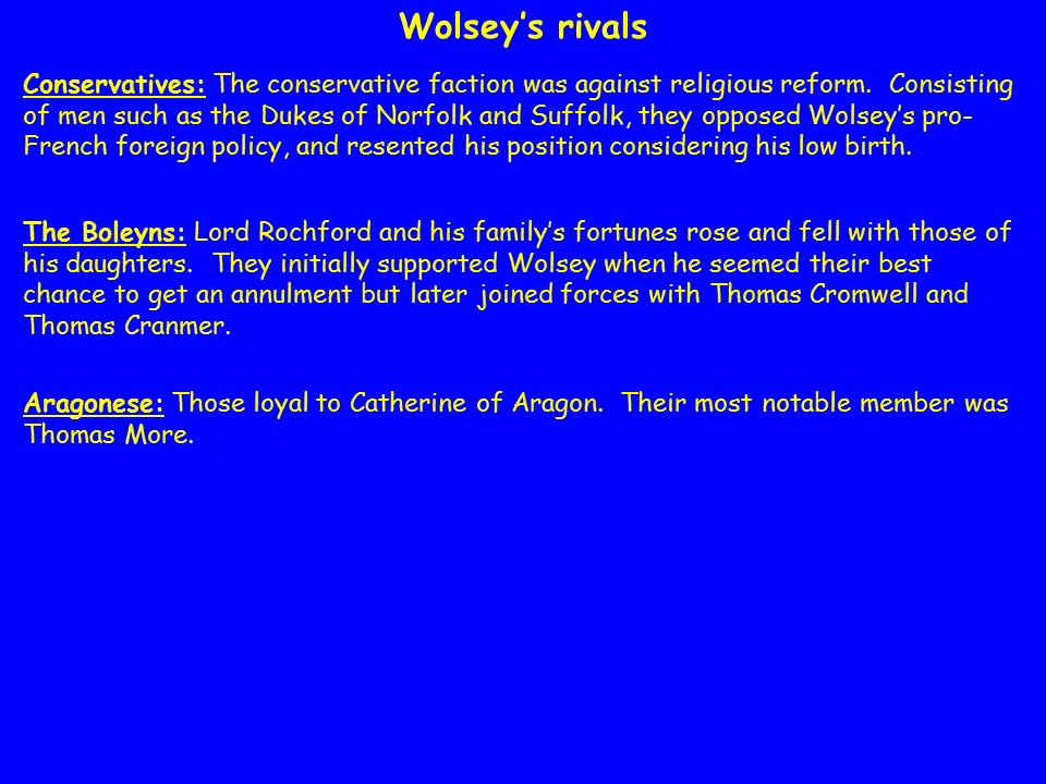 Henry VIII - The King's Great Matter & Fall of Wolsey Tudors A-level PowerPoint (AQA, OCR, Edexcel)