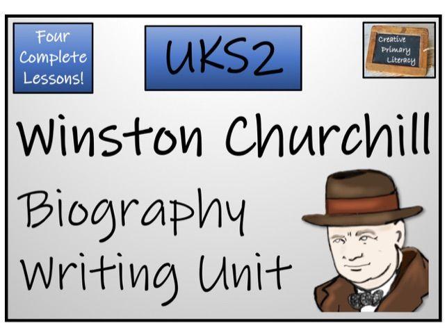 UKS2 History - Winston Churchill Biography Writing Activity