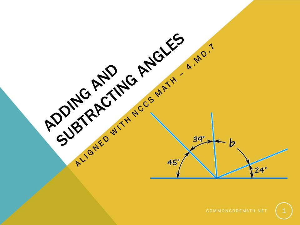 Adding and Subtracting Angles - 4.MD.7