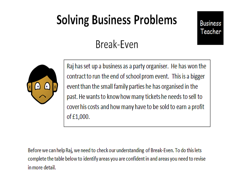 break-even revision booklet