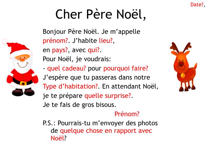 French Christmas- Lettre au Père Noël
