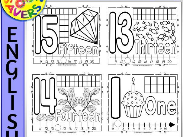 English Number Activity Mats