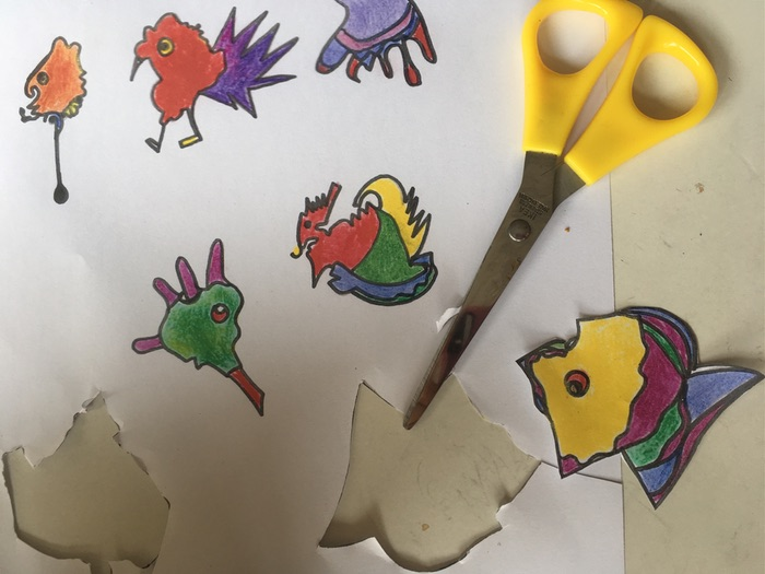 Making Miro fantasy magical creatures: coffee blob KS2 and KS3 lesson plan a picture in abstraction