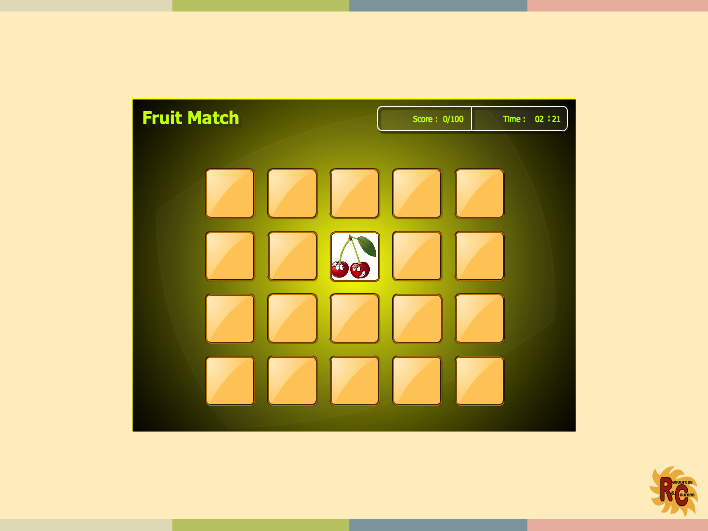 Fun Characters - Fruit Match Game
