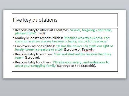 'A Christmas Carol' key themes plus exam question | Teaching Resources