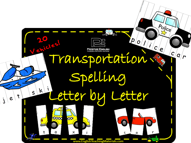 Transportation Spelling (Letter by Letter)
