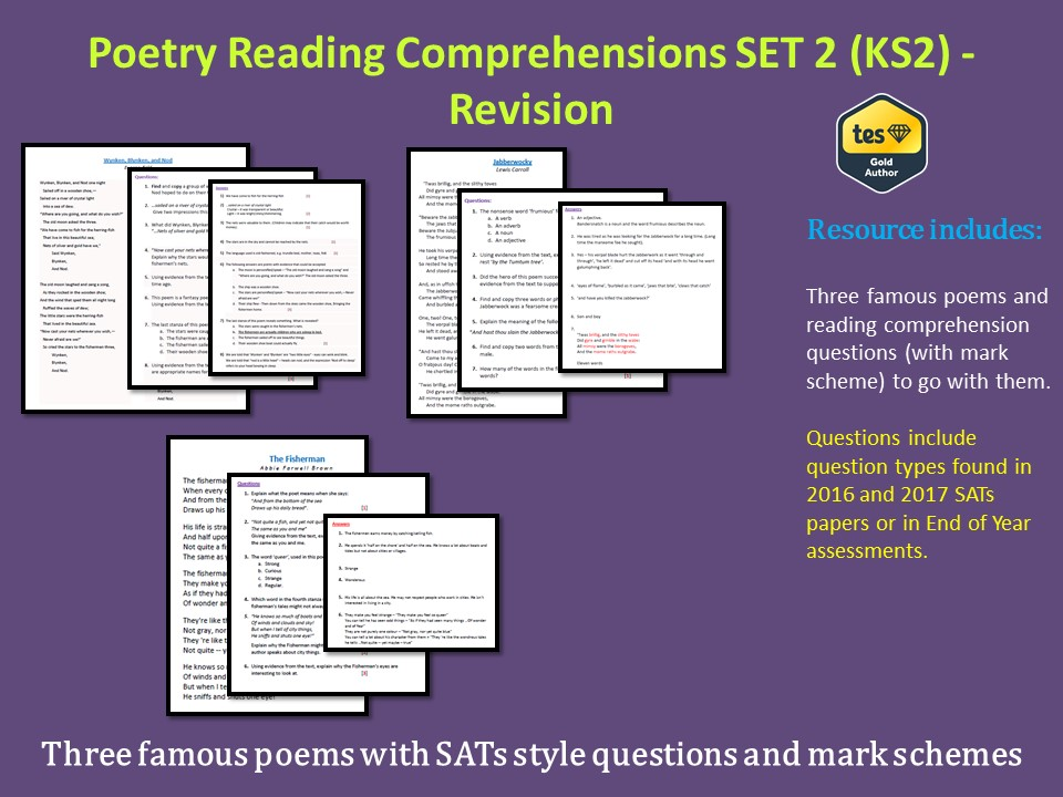 Poetry Reading Comprehensions - SET 2 (KS2) - Revision