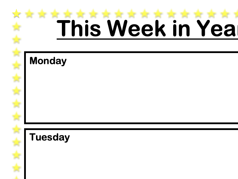 This Week in Year 1