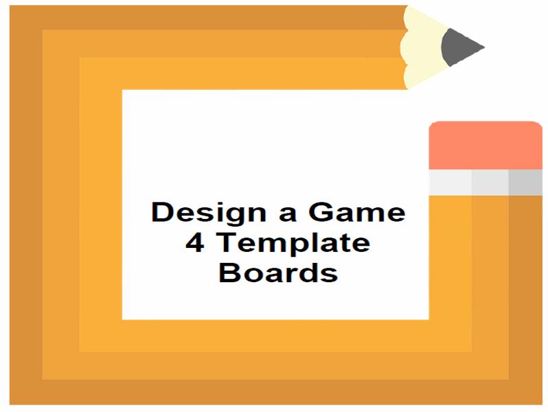 Design a Game 4 Template Boards