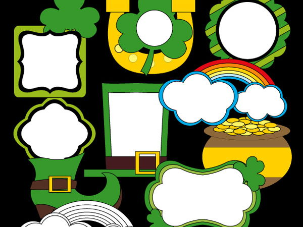 St. Patrick's day frames - New clipart for Irish day