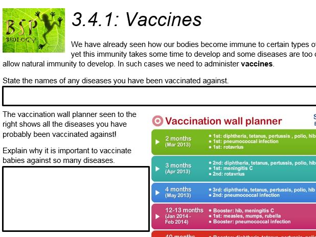 AQA GCSE Biology: Trilogy. Lesson 29 Vaccines