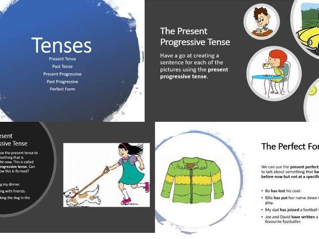 ks2 english eal spag tenses presentation worksheets present past progressive perfect. Black Bedroom Furniture Sets. Home Design Ideas