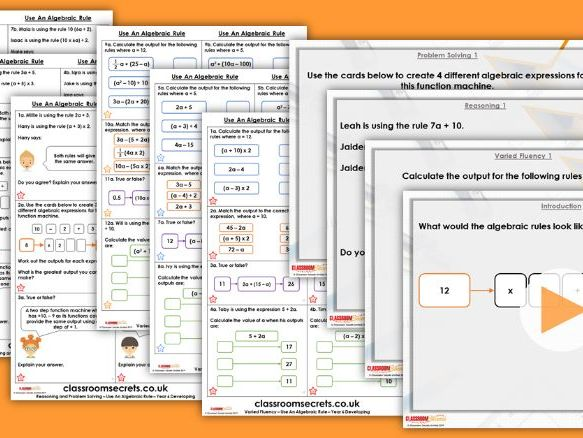 Year 6 Use an Algebraic Rule Spring Block 3 Step 3 Lesson Pack
