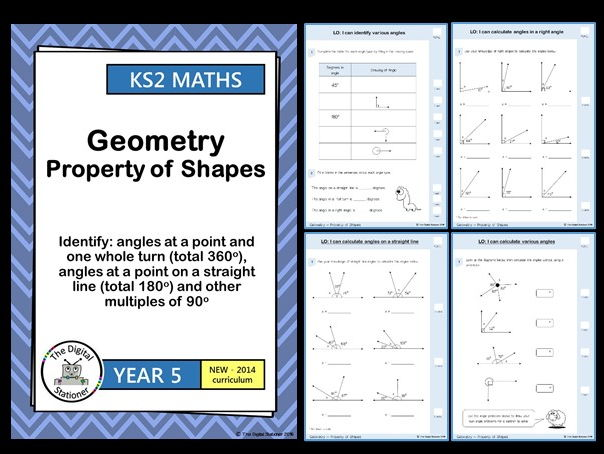 Year 5 - Identify angles in full turn, straight line, 90 degrees - Geometry White Rose (MASTERY)