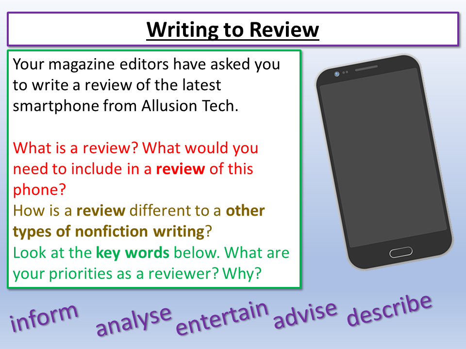 Edexcel Review Writing