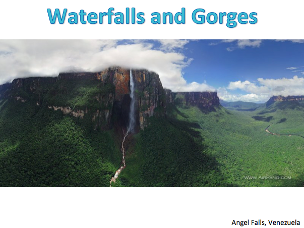 KS3 Rivers - Upper Course: Waterfalls and Gorges