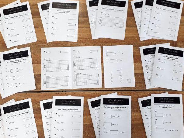 SAT Revision Mini-Test Booklets: Arithmetic Set (Number)