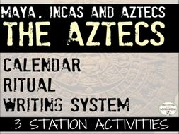 Aztecs: Calendar, Writing and Ritual Center Activities for Aztec Unit