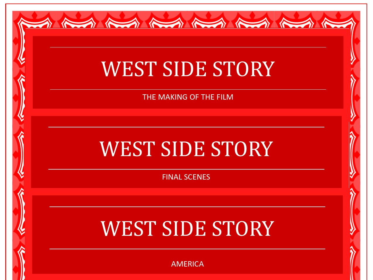 West Side Story questions bundle