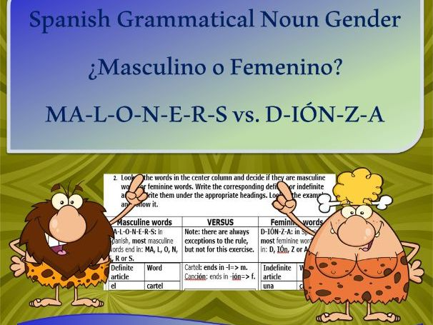 Masculino o Femenino: How to recognize grammatical NOUN gender in Spanish