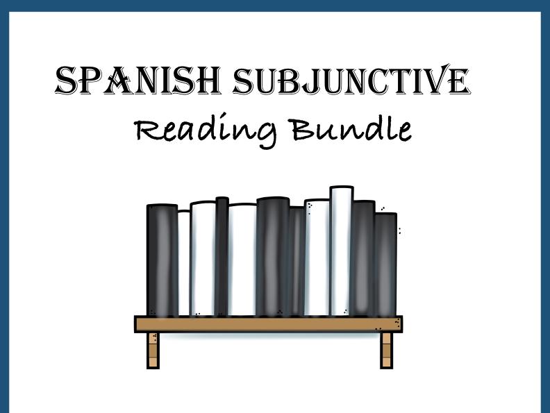 Spanish Subjunctive Reading Bundle - 4 Lecturas en el Subjuntivo at 35%!