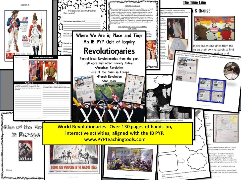 A Complete Unit of Inquiry World Revolutions & Revolutionaries IB PYP
