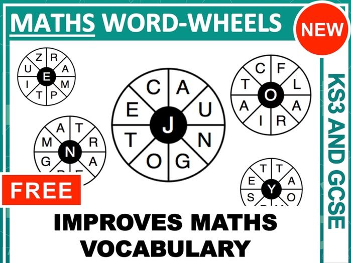 Word-wheels for Maths