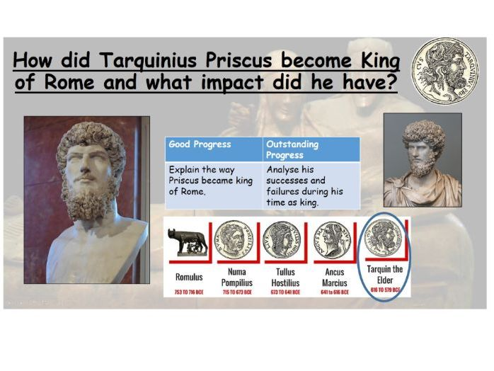 How did Tarquinius Priscus become king of Rome and what impact did he have?