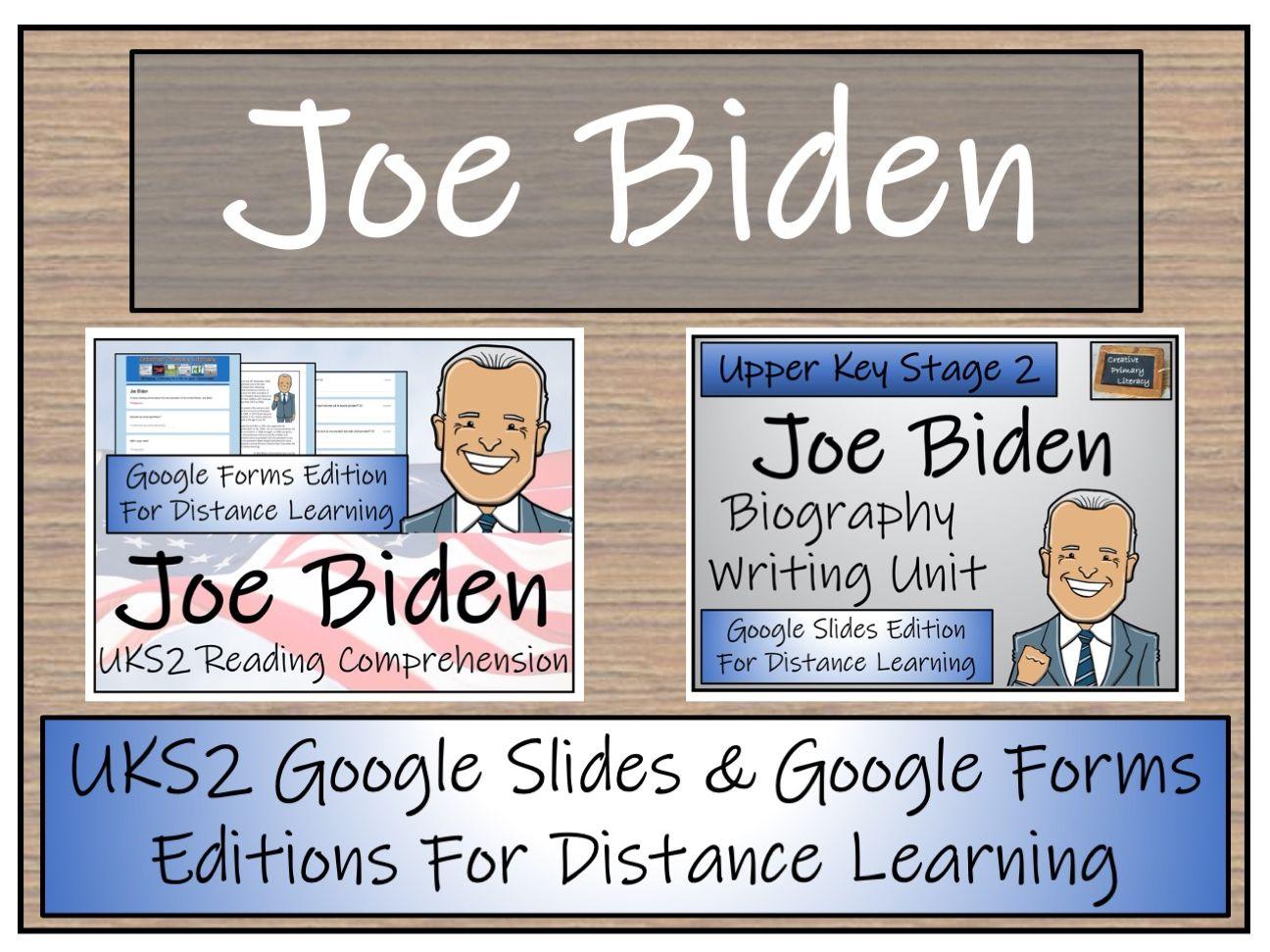UKS2 Joe Biden Biography & Reading Comprehension Distance Learning Bundle