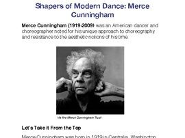 Shapers of Dance: Merce Cunningham