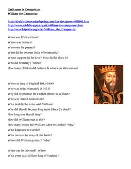 William the Conqueror Webquest