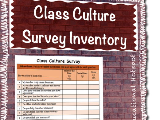 Student & Class Culture Survey Inventory