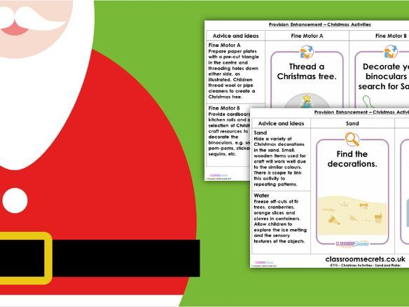 EYFS Provision Enhancement Christmas Activities