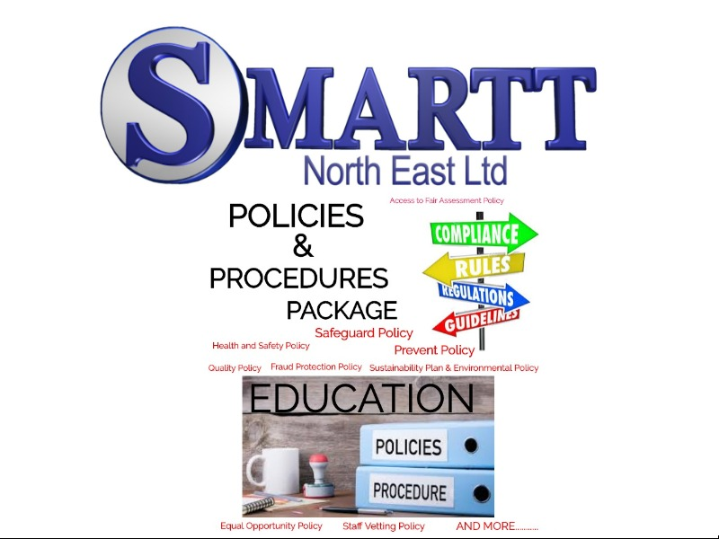 POLICIES AND PROCEDURES PACKAGE | SAFEGUARDING, EDUCATION, EQUAL OPPORTUNITIES