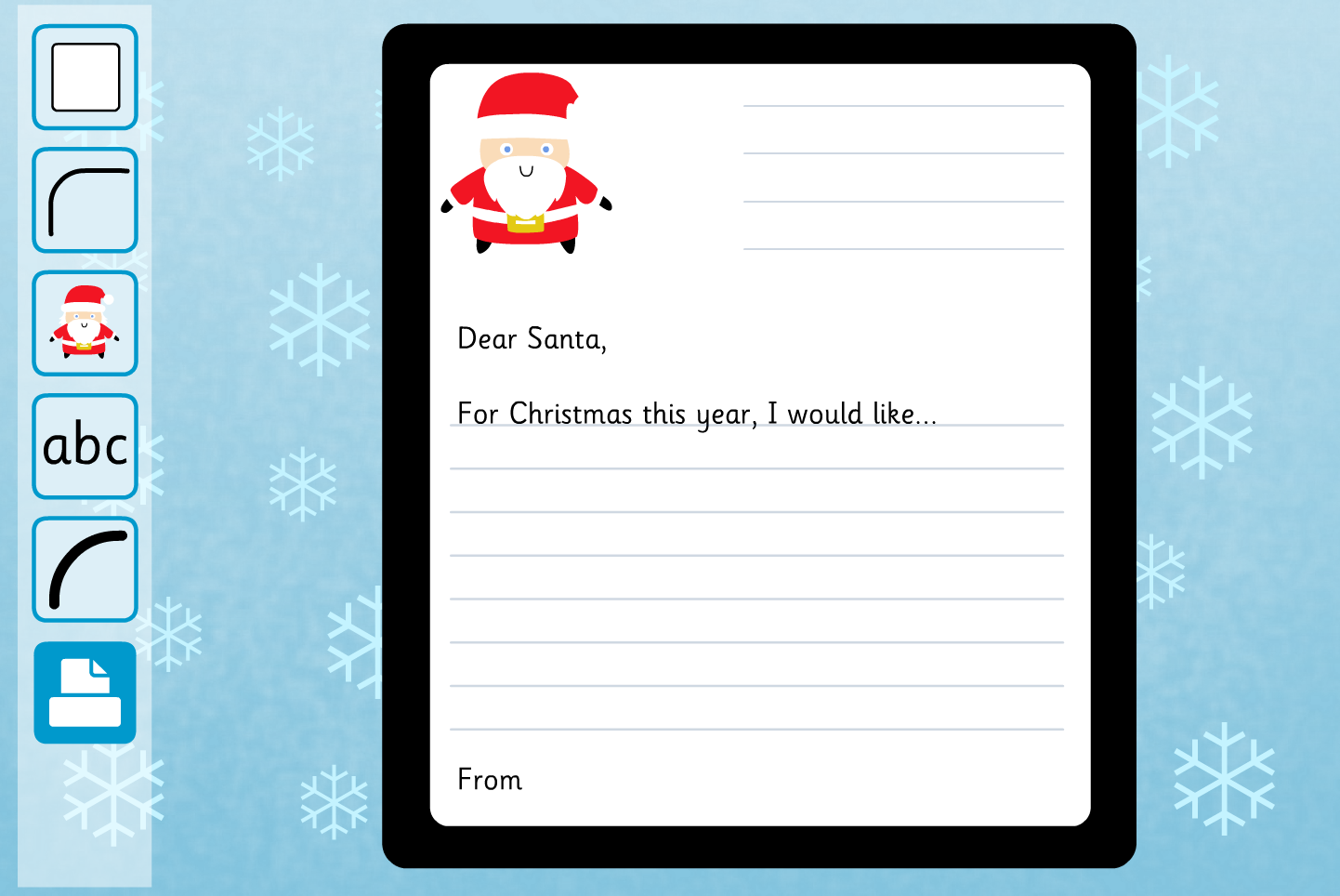 Letter to Father Christmas Interactive Activity - Christmas KS1