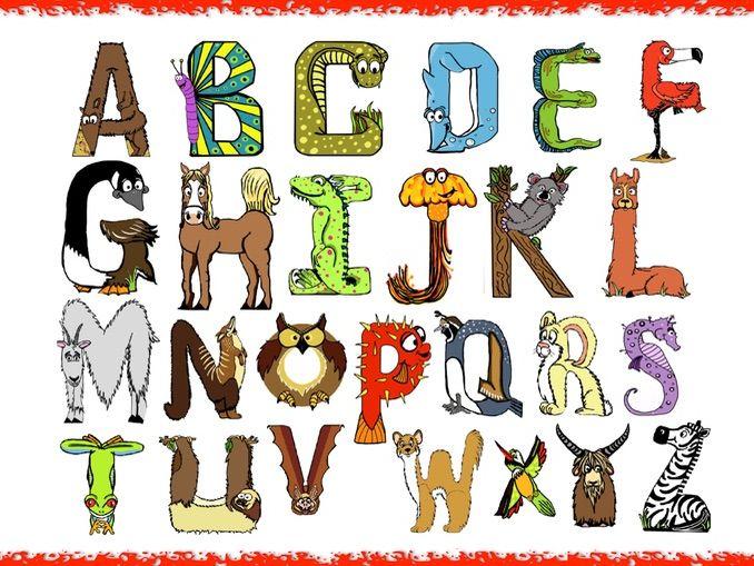 Fun Animal Alphabet Poster