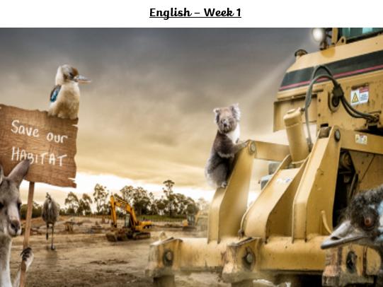 Literacy Home Learning Week 1
