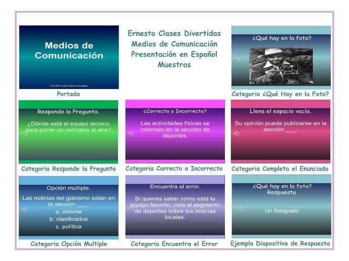 News Media Spanish PowerPoint Presentation