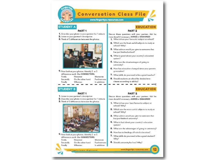 Education - ESL Conversation Activity