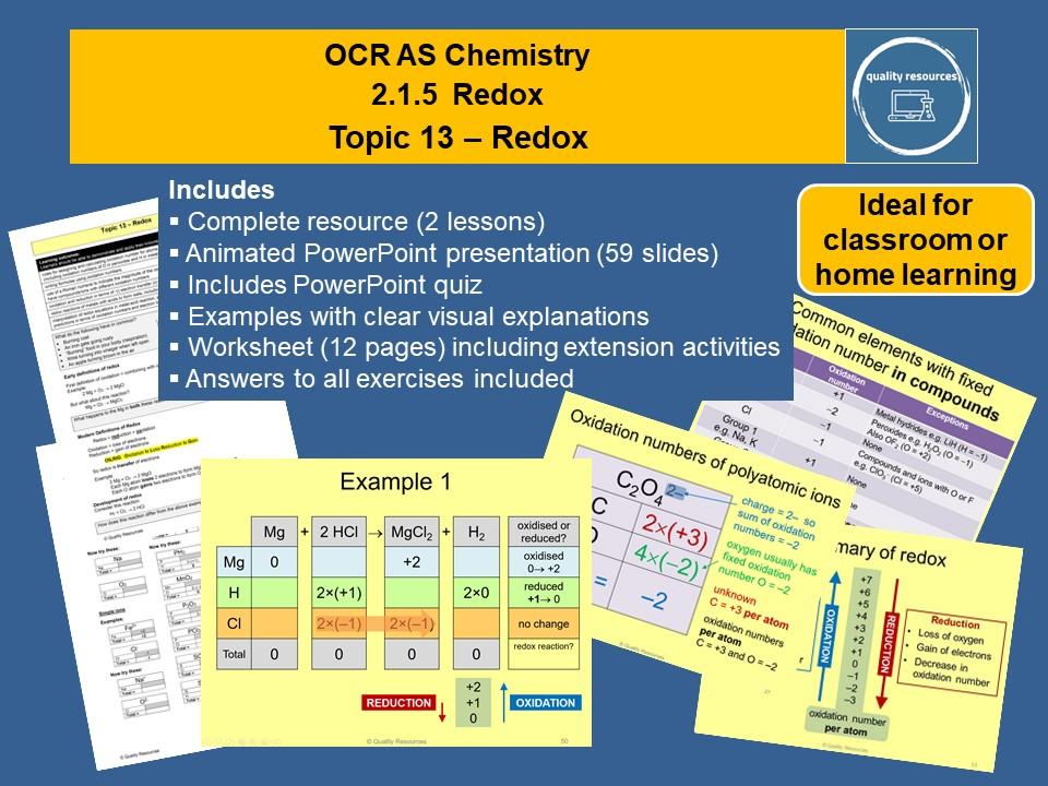 Redox OCR AS Chemistry