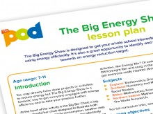 The big energy show lesson plan