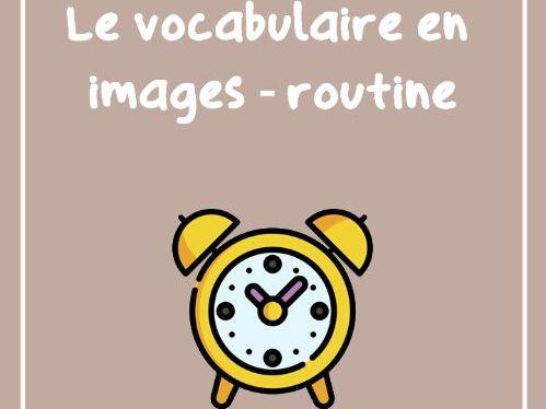 La routine quotidienne (vocabulaire illustré)